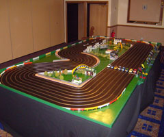 8 lane scalextric hire